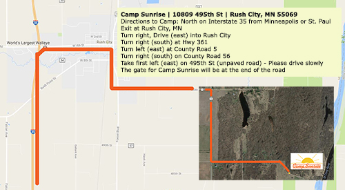 Camp Sunrise Directions